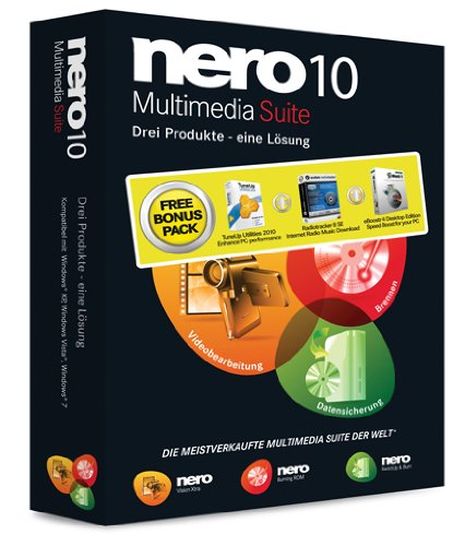 Nero 10 Suite + Bonus Pack Multilingual (TuneUp Utilities 2010, Audials Radiotracker 8 SE, eBoostr 4 Desktop Edition)