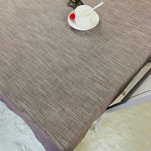 DSman Lavable Manteles, Prueba de Aceite Manteles para Bodas Fiesta Buffet Lino Impermeable de Color Puro