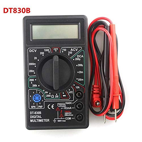 Buy Discount JINSUO GQZMBM Digital Multimeter Voltmeter Ammeter Ohmmeter DC10V~1000V 10A AC 750V Current Tester Digital Probe Test Leads (Color : DT830B)