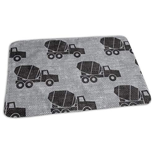Mixer Trucks Zwart Op Grijs W Bed Pad Wasbaar Waterdichte Urine Pads voor Baby Peuter Kinderen en Volwassenen 27.5 x19.7 inch