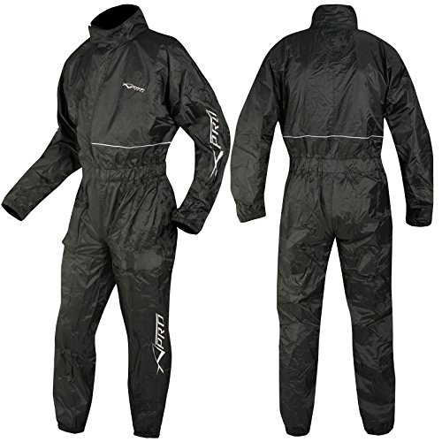 A-Pro Motorcycle Motorbike Waterproof Rain Suit Over One 1 pc Trousers Jacket L