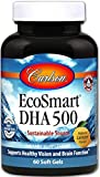 Carlson - EcoSmart DHA 500, Sustainable Source, Supports Healthy Vision & Brain Function, Lemon, 60 soft gels