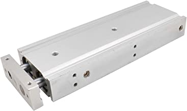 Baomain Compact Aluminum Air Cylinder CXSM 25 X 150 Guide Rod Plate Double Rod Guided Pneumatic Slide Bearing Cushioned