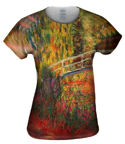 Yizzam- Monet -Water Lily Pond (1900) -Tshirt- Womens Shirt-Large