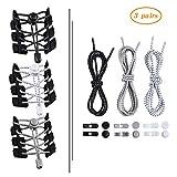 Aibayleef Elastische Schnürsenkel ohne Krawatte, 3er-Set Selbstsichernde, Reflektierende Schnürsenkel mit Elastischem Verschluss für Erwachsene und Kinder (Größe 120 cm) (120cm(47''),...