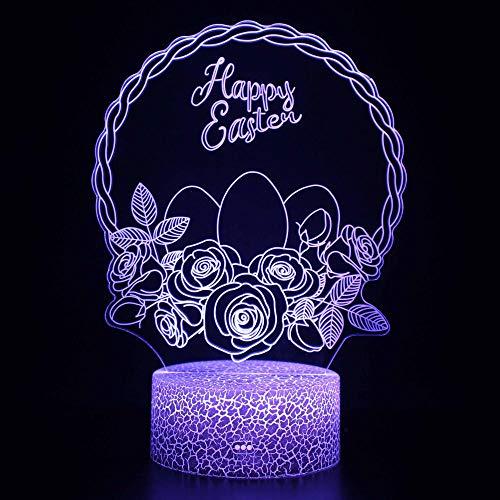 Guirnalda de luz nocturna 3D LED Magic Light, control remoto que cambia de color ilusión luz nocturna el mejor regalo creativo para niños