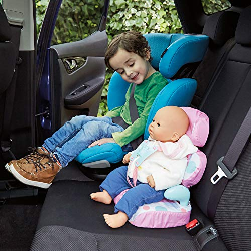 Casdon Baby Huggles Doll Car Booster Seat - Bring Your Favorite Friend for a Ride! Pink/Purple, Size 13.78