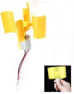 Generador de electricidad eólico - Mini generador de aerogeneradores Kit generador de viento vertical Modelo de