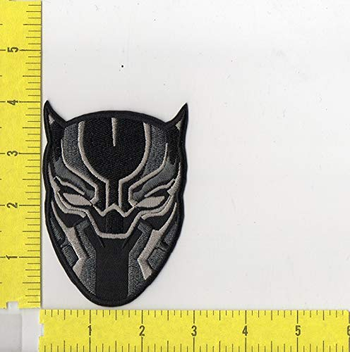 Marvel's Black Panther Head Logo Iron on Patch sm