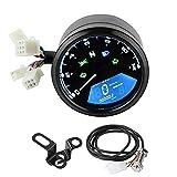 12 V Pantalla Digital LCD Universal de la Motocicleta Velocímetro Cuentakilómetros Tacómetro Medidor de Combustible Indicador