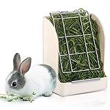 POPETPOP Heu-Futterspender/Heuraufe für Kaninchen - Weniger Vergeudetes Heu Feeder für Kaninchen/Meerschweinchen/Chinchilla/Kleintiere