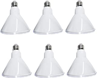 6PCS/Pack PAR38 LED Flood Light Bulb,Dimmable, IP65 Indoor and Outdoor Use,18W (100-150W Equivalent), 1600lm, 4000K Day Ligh White, 120 Degree Beam Angle, Medium Base(E26)