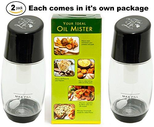 The Fine Life Ideal Kitchen Bundle Olive Oil Sprayer Mister - 2-Pack - Black