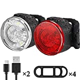 Bike Lights Set, USB Rechargeable Bike Front and Rear Lights, LED Waterproof Bicycle