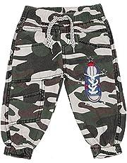 Generisch Pantalones de deporte para niños y bebés, diseño de camuflaje militar, talla 68-92