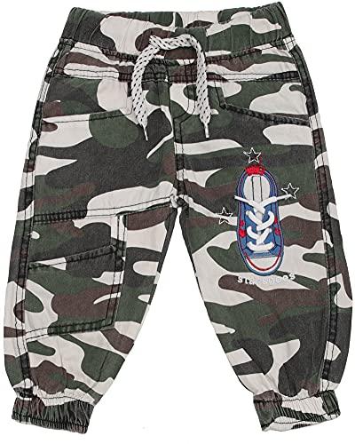 Generisch Pantalones de deporte para niños y bebés, diseño de camuflaje militar, talla 68-92 camuflaje 68 cm-74 cm
