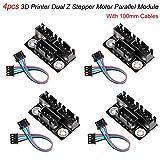 4 pezzi Modulo parallelo motore passo-passo Dual per stampante 3D Con cavi da 100 mm Per motori passo-passo Dual Z a doppio asse Z Z Coppia di parti e accessori per stampante 3D Reprap Prusa Lerdge 3D
