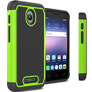 Alcatel Dawn Case Alcatel Streak Case Alcatel Ideal Case CoverON [HexaGuard Series] Slim Hybrid Hard Case for Alcatel One Touch Dawn – Green  Not Fit Ideal Xcite