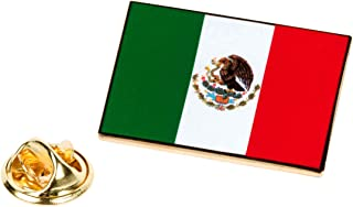 Mexico Flag Lapel Pin Patriotic Mexican Tie Tack Snake Eagle Emblem