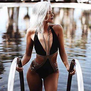 BEESCLOVER One Piece Swimsuit Swimwear Women Maillot De Bain Femme Monokini Swimming Suit For Women Bodysuit Bathing Suit Swim Wear B1190BL S