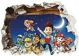 Funky Planet Wandaufkleber Luftballons Flugzeuge Autos Tiere Wandaufkleber Wanddekoration für Wohnzimmer Schlafzimmer Kinderzimmer (50x70, Paw Patrol)