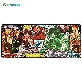 Otakoque Mauspad Manga/Anime XXL Mauspad ergonomisch groß (90 x 40 x 3 cm), 900 x 400 x 3 mm, Mauspad aus Naturkautschuk, Rutschfest und komfortabel, Dragon Ball Z, Naruto, MHA....