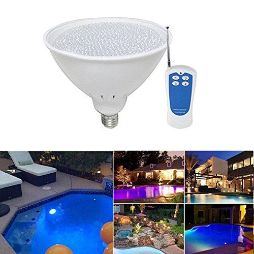 CALALEIE 40W E27 RGB LED entfernter Swimmingpool-Licht-wasserdichte Brunnen-Birnen-Lampe AC12V LED-Beleuchtungszubehör