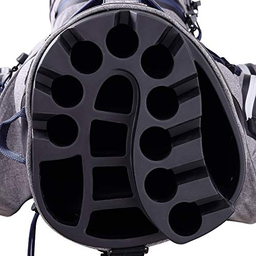 Big Max Aqua Silencio 3 Golf Cartbag 2020-100% wasserdichte Golftasche (Storm/Silver/Navy) - 2