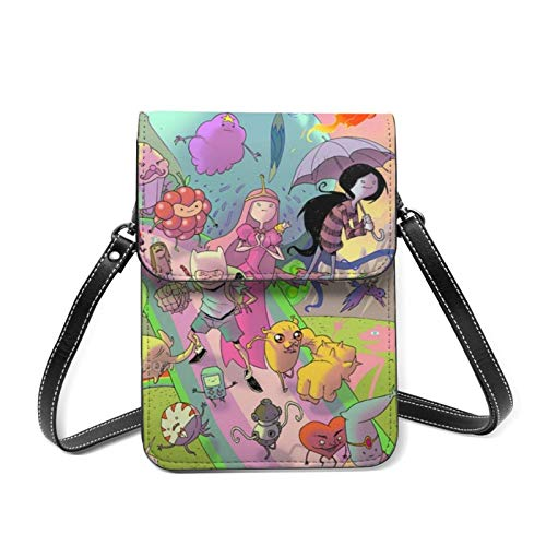 XCNGG Funny Cute Adventure Time Cell Phone Purse Crossbody Bags Women Men Teen Small Wallet With Removable Shoulder Strap