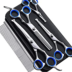 Professional Dog Grooming Scissors Set from Gimars.