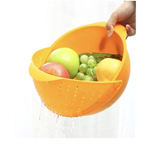 Darkpyro Innovative Rinse Bowl and Strainer in One (Multicolour)
