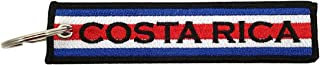 Luso Aviation Costa Rica Flag Key Chain, 100% Embroidered