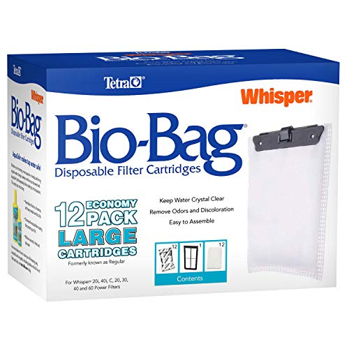 Tetra Whisper Bio-Bag Replacement Cartridge Unassembled Large 12pk