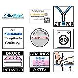 OrthoMatra Mini-Duo, Babymatratze und Kindermatratze in einem, Oeko Tex Standard 100, Bezug abnehmbar- und waschbar, Mit Klimaband zur besseren Luftzirkulation Größe 80x180 - 4