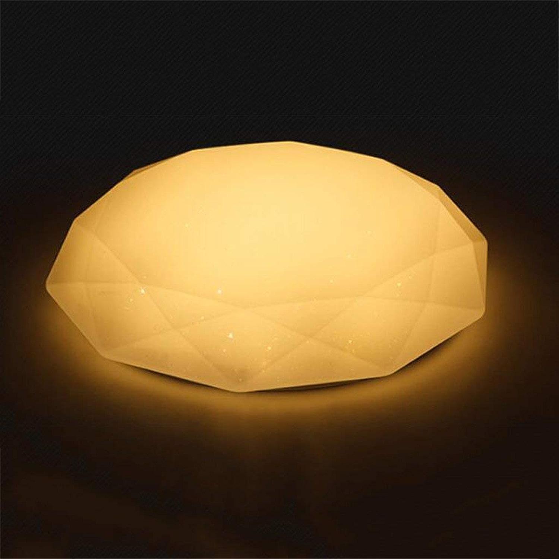 WENYAO La Lampe de LED Moderne Minimaliste de Chambre Allume Le Restaurant d'allée de Diahommet l'allume Allume Les Lampes de Salon créatif (Couleur  lumière Chaude, Taille  36  10CM 18W)