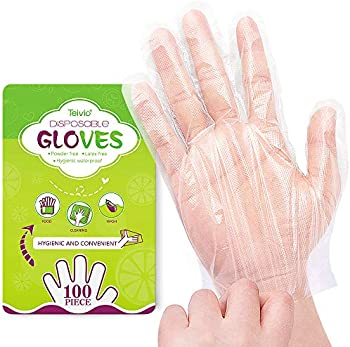 100-Count Teivio Park Plastic Disposable Gloves