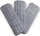 Zollyss Microfiber Spray Mop Replacement Heads 16 x 5.25 Inches for Wet/Dry Mops Compatible with Bona Floor Care System (3 Pack - Multi)