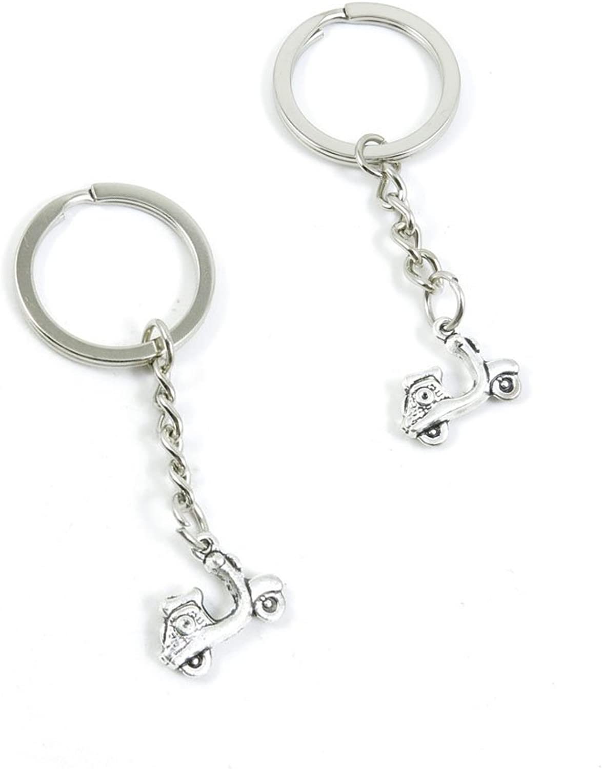 100 Pieces Keychain Keyring Door Car Key Chain Ring Tag Charms Bulk Supply Jewelry Making Clasp Findings C3NT1O Ladies Motorcycle Scooter