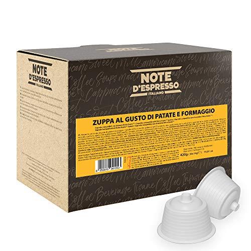 Note d'Espresso Italiano - Cápsulas de sopa de patata con queso, 14g (caja de 30 unidades) Compatibles con cafeteras de cápsulas Nescafé* y Dolce Gusto*