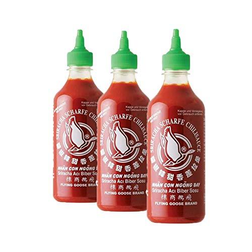 Salsa Sriracha tradicional 455 ml - pack de 3 unidades