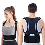 Back Brace Posture Corrector - Back Support Belt with Fully Adjustable Straps Relief Lower & Upper...