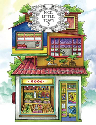 Adult Coloring Book: Nice Little Town