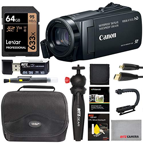 Check Out This Canon Vixia HF W10 Shockproof & Waterproof HD Camcorder with Spare Battery, Lexar 64G...
