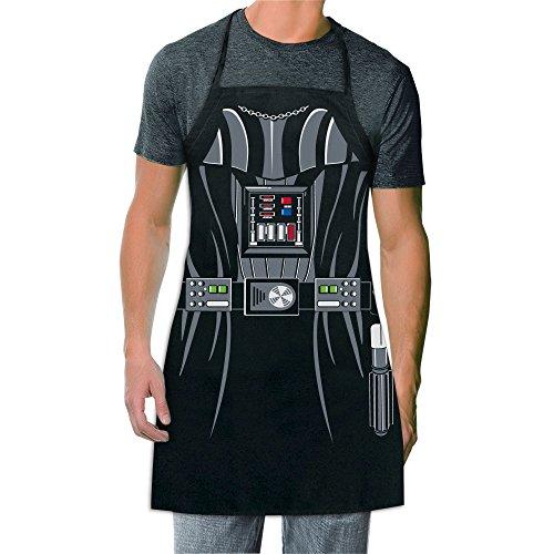 ICUP Star Wars – Darth Vader Be The Character Schürze für Erwachsene, 100 % Baumwolle, verstellbar, Schwarz