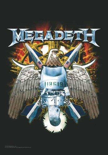 empireposter Megadeth Flagge - Eagle - Posterflagge 100% Polyester 75x110 cm