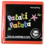 MegaCrea DIY Pâte polymère à Modeler Patati Patata Rouge 50 g
