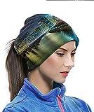 XHAJSXD Headbands New York Pier Pilings and Manhattan Thermal Neck Warmer Helps Reduce Allergies Microfiber Neck Warmer