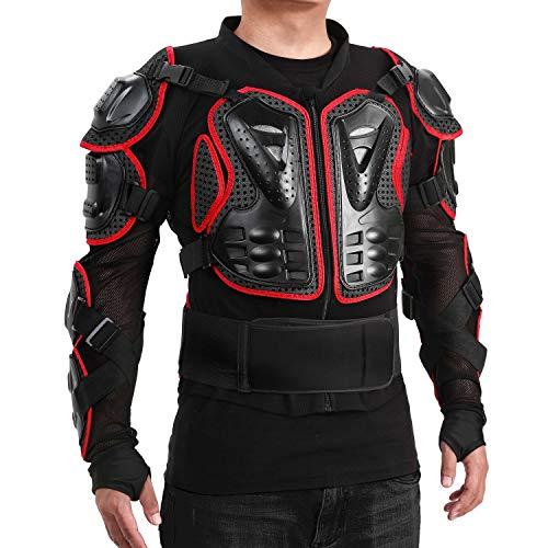 WILDKEN Chaqueta de Protección para Motocross Motos Ropa Protectora de Cuerpo Armadura Completo Profesional de Motocicleta Deportiva para Hombres Columna Vertebral Hombro Mujer Pecho (Rojo, S)