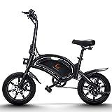 urbetter Vélo Électrique Pliable, Moteur de 400W Vitesse Jusqu'à 45 Km/h, 45 Km la Longue Portée, Batterie Lithium-ION 48V 7.5Ah, 14 Pouces City E-Bike avec Pédale, Adulte Unisexe - B2
