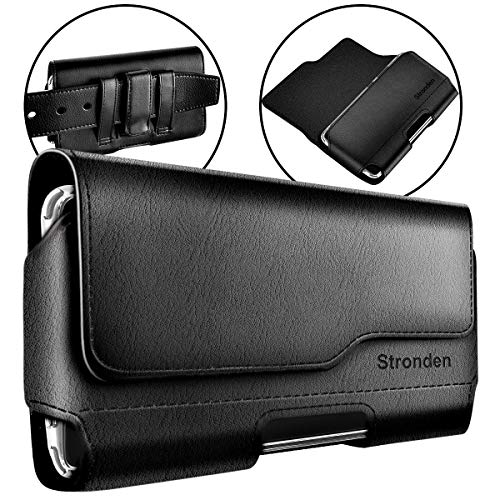 Stronden iPhone SE (2020) iPhone 8 iPhone 6S 7 Belt Case with Clip, Apple iPhone 8 Leather Belt Clip Case Holster Pouch Sleeve Flip Cover Cell Phone Holder (Fits Otterbox Commuter/Symmetry Case)